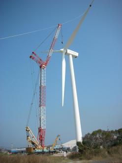 テトラエナジーひびき風力発電所 V80-20MVタワー高67.0m